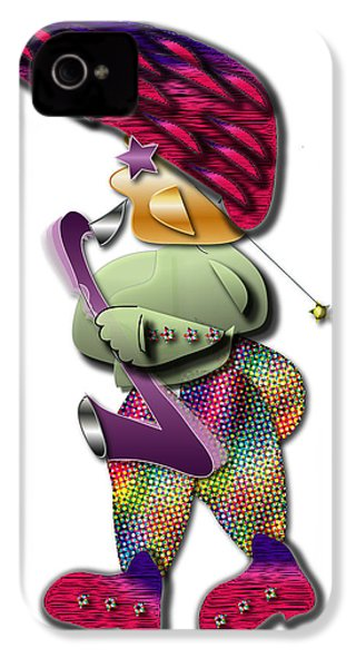 IPhone 4 Case featuring the digital art Sax Man by Marvin Blaine