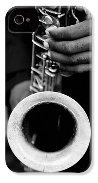 IPhone 4 Case featuring the photograph Sax Player by Dave Beckerman