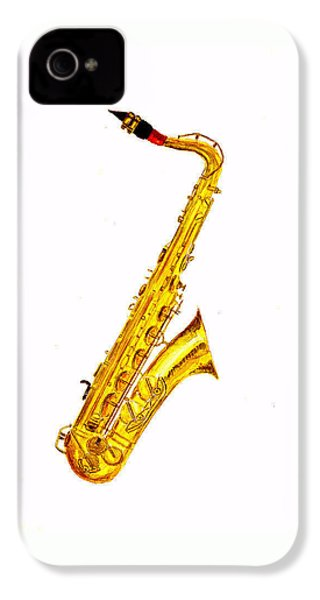 Saxophone IPhone 4 Case by Michael Vigliotti