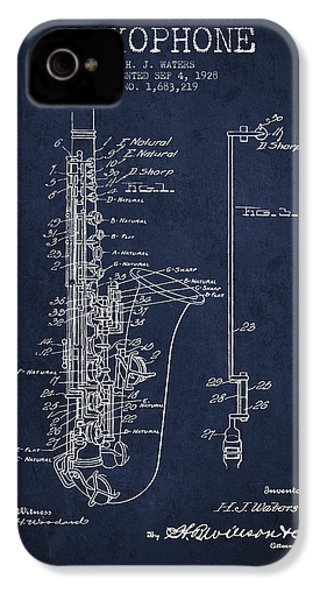 Saxophone Patent Drawing From 1928 IPhone 4 Case by Aged Pixel