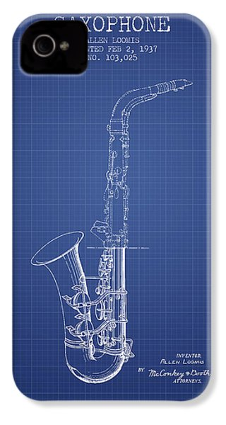 Saxophone Patent From 1937 - Blueprint IPhone 4 / 4s Case by Aged Pixel