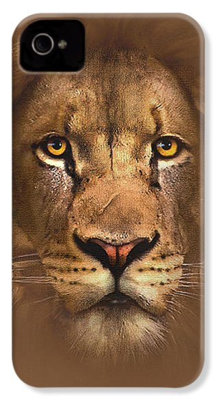 Scarface Lion IPhone 4 Case by Robert Foster
