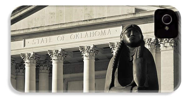 Sculpture Of Native American IPhone 4 Case by Panoramic Images