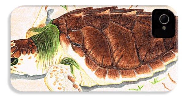 Sea Turtle Art By Sharon Cummings IPhone 4 / 4s Case by Sharon Cummings