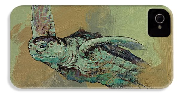 Sea Turtle IPhone 4 Case by Michael Creese