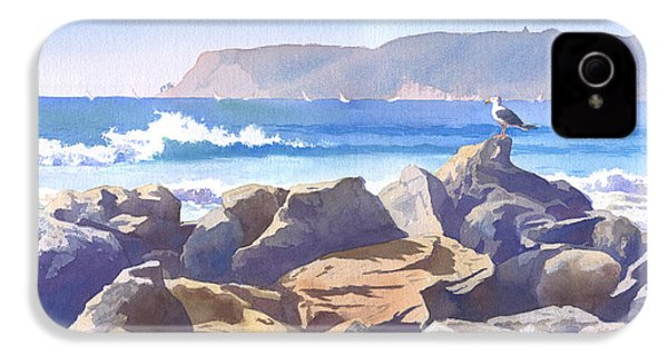 Seagull And Point Loma IPhone 4 / 4s Case by Mary Helmreich