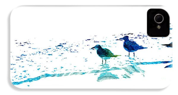 Seagull Art - On The Shore - By Sharon Cummings IPhone 4 / 4s Case by Sharon Cummings