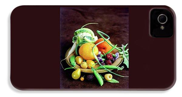 Seasonal Fruit And Vegetables IPhone 4 Case by Romulo Yanes