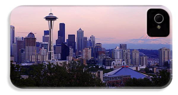 Seattle Dawning IPhone 4 Case by Chad Dutson