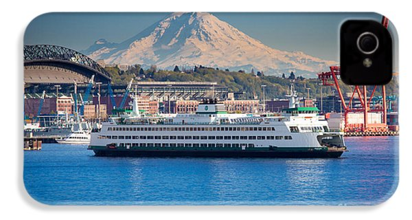 Seattle Harbor IPhone 4 / 4s Case by Inge Johnsson