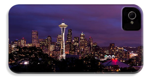 Seattle Night IPhone 4 Case by Chad Dutson