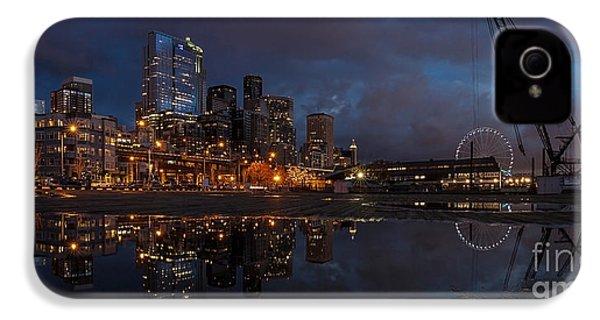 Seattle Night Skyline IPhone 4 Case by Mike Reid