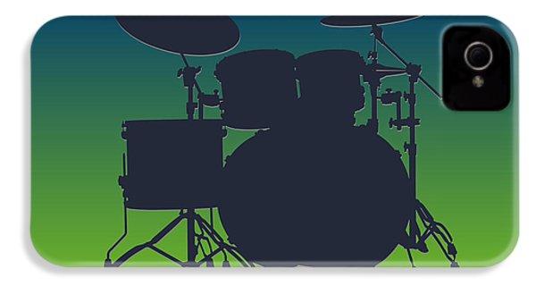 Seattle Seahawks Drum Set IPhone 4 Case by Joe Hamilton