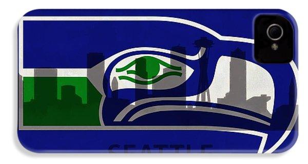 Seattle Seahawks On Seattle Skyline IPhone 4 Case