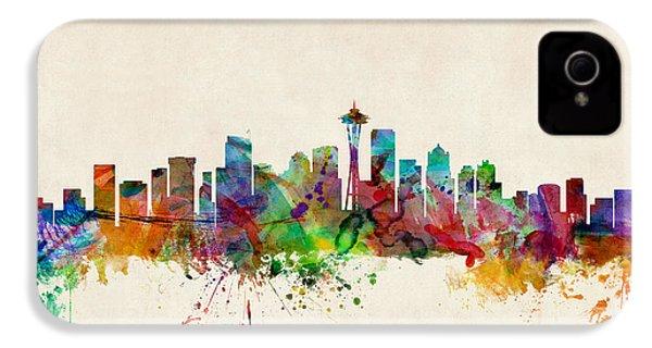 Seattle Washington Skyline IPhone 4 Case by Michael Tompsett