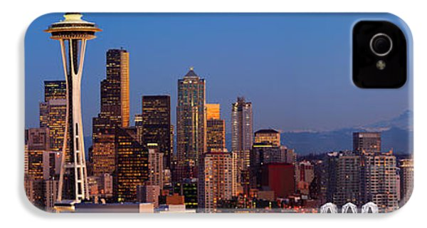 Seattle Winter Evening Panorama IPhone 4 Case by Inge Johnsson