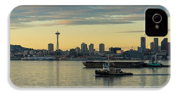 Seattles Working Harbor IPhone 4 / 4s Case by Mike Reid