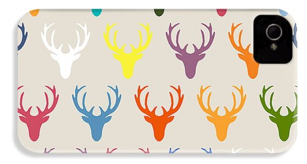 Seaview Simple Deer Heads IPhone 4 Case by Sharon Turner