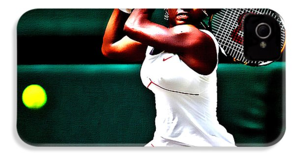 Serena Williams 3a IPhone 4 Case by Brian Reaves