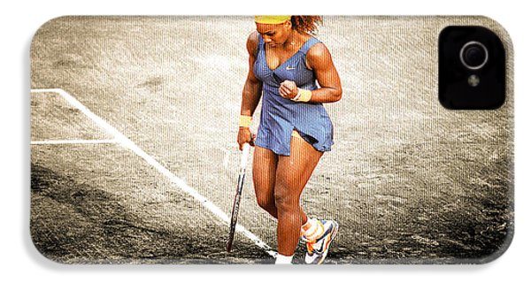 Serena Williams Count It IPhone 4 Case by Brian Reaves