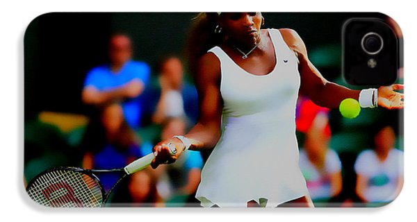 Serena Williams Making It Look Easy IPhone 4 Case by Brian Reaves