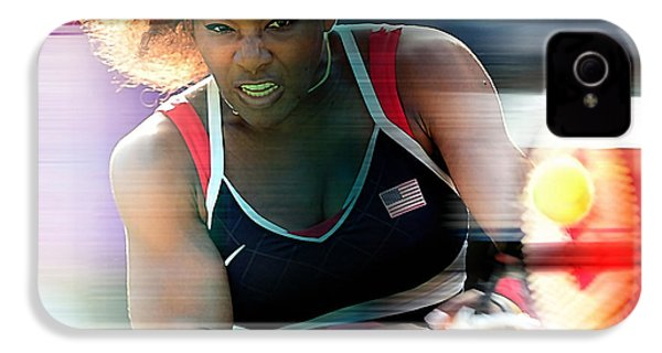Serena Williams IPhone 4 / 4s Case by Marvin Blaine