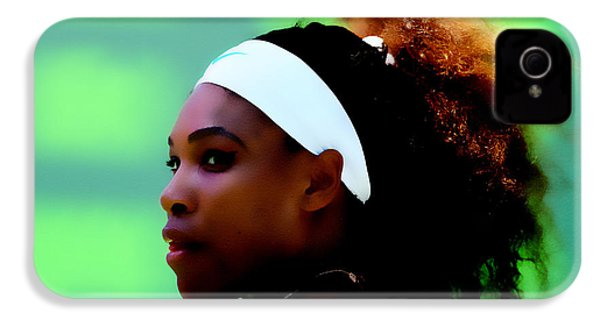 Serena Williams Match Point IPhone 4 Case by Brian Reaves