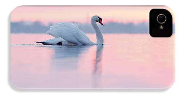 Serenity   Mute Swan At Sunset IPhone 4 Case