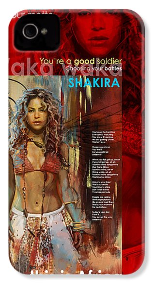 Shakira Art Poster IPhone 4 Case by Corporate Art Task Force