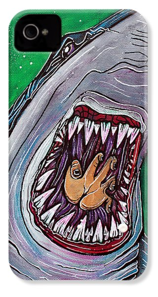 Shark Kill Zone IPhone 4 Case by Laura Barbosa