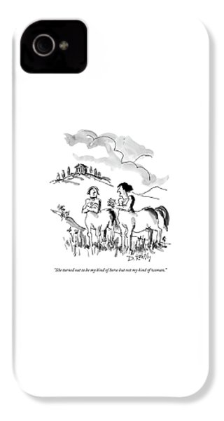 She Turned Out To Be My Kind Of Horse But IPhone 4 Case by Donald Reilly