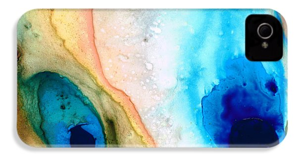 Shoreline - Abstract Art By Sharon Cummings IPhone 4 Case by Sharon Cummings