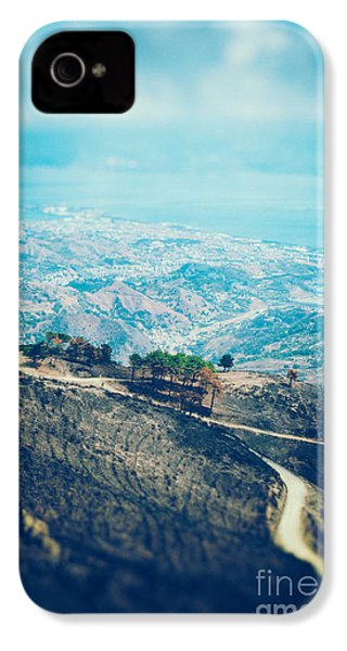 IPhone 4 Case featuring the photograph Sicilian Land After Fire by Silvia Ganora