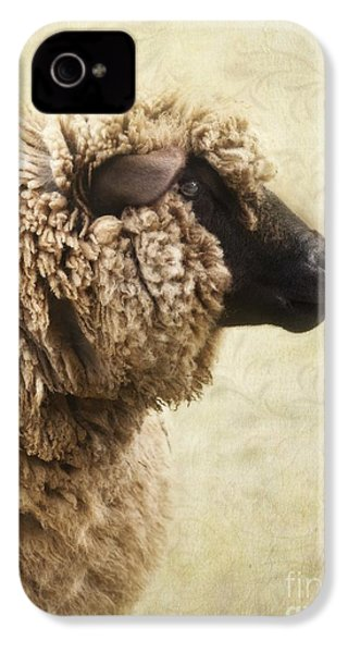 Side Face Of A Sheep IPhone 4 / 4s Case by Priska Wettstein