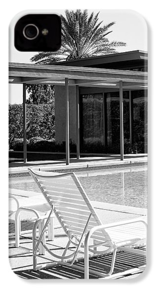 Sinatra Pool Bw Palm Springs IPhone 4 Case