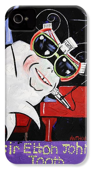 Sir Elton John Tooth  IPhone 4 / 4s Case by Anthony Falbo