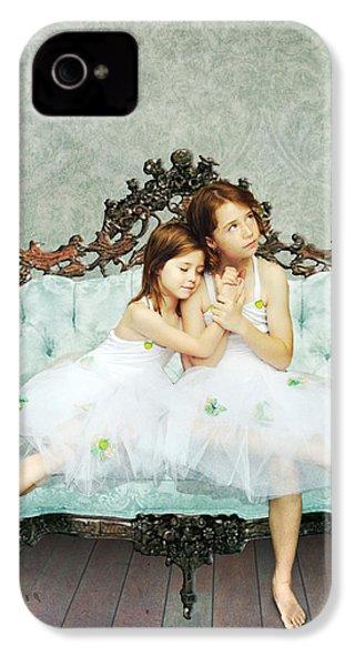 Sisters IPhone 4 Case by Linda Lees