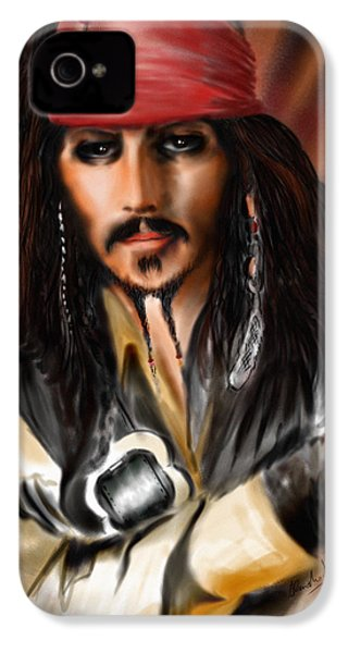 Sketching A Pirate... IPhone 4 / 4s Case by Alessandro Della Pietra