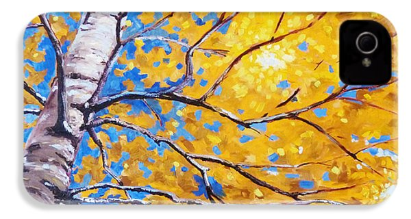 Sky Birch IPhone 4 Case by Nancy Merkle