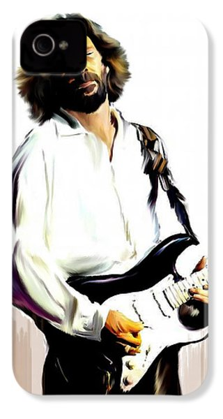 Slow Hand  Eric Clapton IPhone 4 / 4s Case by Iconic Images Art Gallery David Pucciarelli