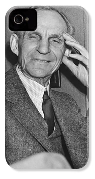 Smiling Henry Ford IPhone 4 / 4s Case by Underwood Archives