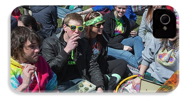 Smoking Marijuana IPhone 4 Case by Jim West