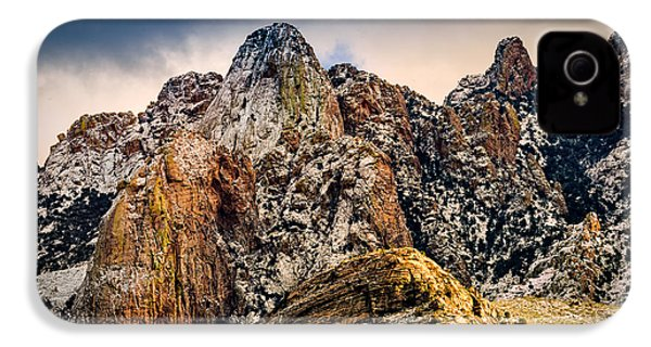 IPhone 4 Case featuring the photograph Snow On Peaks 45 by Mark Myhaver