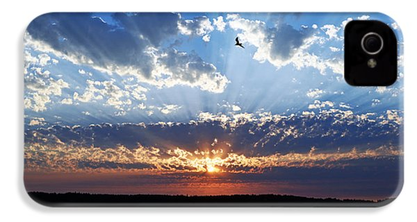 IPhone 4 Case featuring the photograph Soaring Sunset by Anthony Baatz