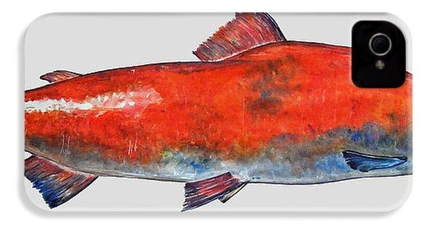 Sockeye Salmon IPhone 4 Case by Juan  Bosco