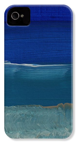 Soft Crashing Waves- Abstract Landscape IPhone 4 / 4s Case by Linda Woods