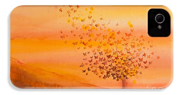 Soul Freedom Watercolor Painting IPhone 4 Case by Michelle Wiarda