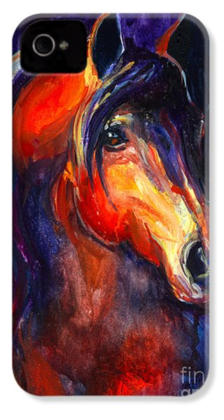 Soulful Horse Painting IPhone 4 Case