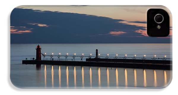 South Haven Michigan Lighthouse IPhone 4 Case by Adam Romanowicz