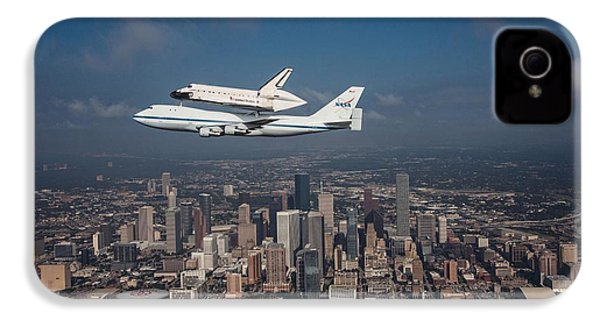 Space Shuttle Endeavour Over Houston Texas IPhone 4 Case
